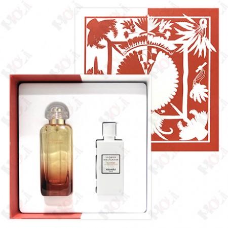 100-2041 Hermes Un Jardin sur la Lagune 愛馬仕潟湖花園中性淡香水禮盒(淡香水100ml+身體乳80ml)