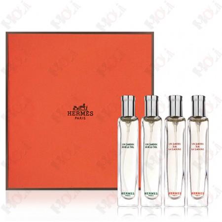 100-2089 Hermes 愛馬仕 花園系列香水套裝禮盒(尼羅河花園15ml x 2、潟湖花園15ml x 2)