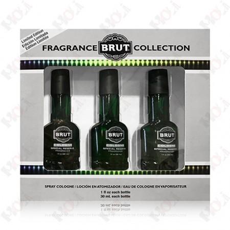 123-628 Brut 大巴可酒瓶經典男性古龍水 30ml x 三入禮盒