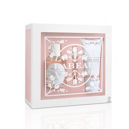 30046-16 LABEAU l'eau de rose 純淨花園玫瑰淡香水禮盒(淡香水100ml+淡香水7.5ml+身體乳100ml)
