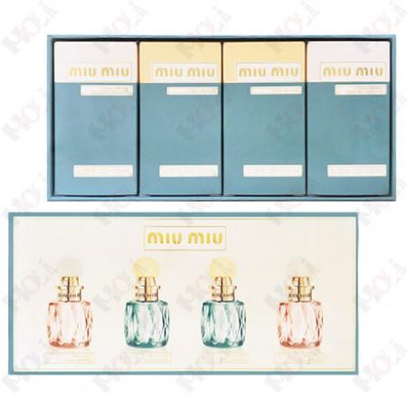 3006-214 Miu Miu 女性小香水禮盒 (春日花園小香7.5ml x 2+粉色嬉遊小香7.5ml x 2)