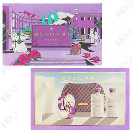 307-2400 BVLGARI Omnia Amethyste 寶格麗紫水晶女性淡香水禮盒 (淡香水65ml+身體乳75mlx2+化妝包)