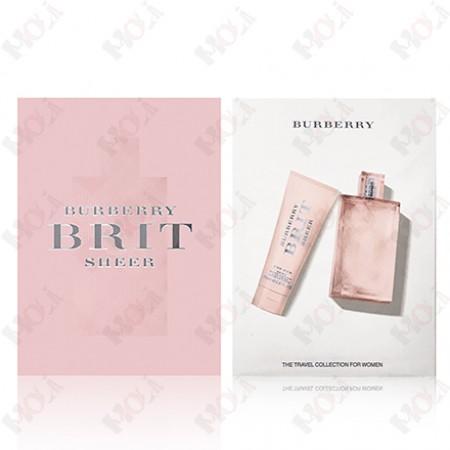 310-936 Burberry Brit Sheer 粉紅風格女性淡香水禮盒(淡香水100ml + 身體乳75ml)