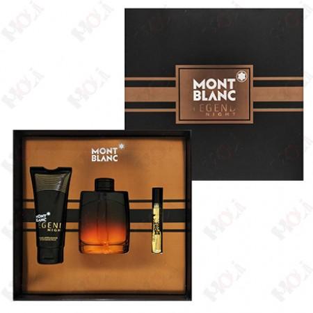 313-537 Mont Blanc Legend Night 萬寶龍 傳奇紳夜男性淡香精禮盒(淡香精100ml+香水筆7.5ml+鬍後乳100ml)