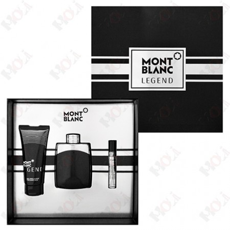 313-674 Mont Blanc Legend 萬寶龍 傳奇經典男性淡香水禮盒(淡香水100ml+鬍後乳100ml+隨身香水7.5ml)