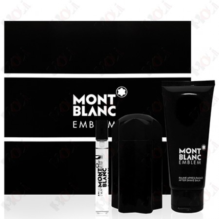313-780 Mont Blanc Emblem 萬寶龍 同名男性淡香水禮盒(淡香水100ml+淡香水7.5ml+鬍後乳100ml)