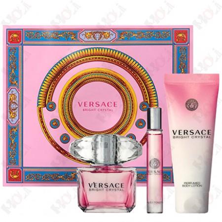 337-612 Versace Bright Crystal 凡賽斯 香戀水晶女性淡香水禮盒 (淡香水90ml+淡香水10ml+身體乳150ml)