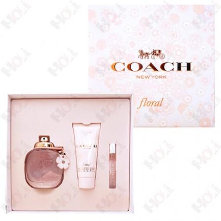 346-399 Coach Floral 芙洛麗女性淡香精禮盒(淡香精90ml+身體乳100ml+隨身香水7.5ml)