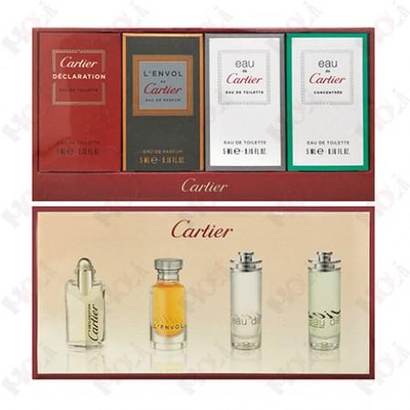 395-36 Cartier 卡地亞男性小香水四入禮盒(卡地亞宣言 4ml、卡地亞飛行 5ml、卡地亞之水 5ml、卡地亞自信之水 5ml)
