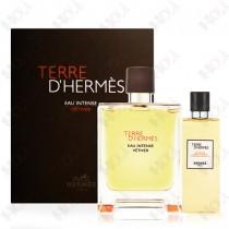 100-1891 Hermes Terre D'hermes Eau Intense Vetiver 愛馬仕大地馥郁香根草男性淡香精禮盒(淡香精100ml+沐浴精 80ml)