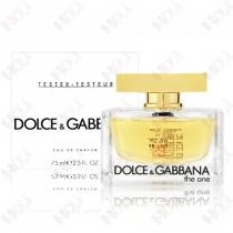111-1002【TESTER包裝】Dolce & Gabbana The One D&G 唯我女性淡香精 75ml ~環保式外盒、有蓋子