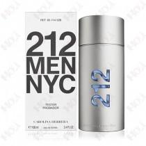 118-800【TESTER包裝】Carolina Herrera 212 MEN 都會男性香水 100ml ~ 環保式外盒,有蓋子