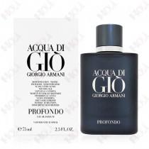 119-1219【TESTER包裝】Giorgio Armani Acqua di Gio Profondo 深邃寄情水男性淡香精100ml ~環保式外盒,有蓋子