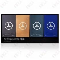159-1040 Mercedes Benz 賓士 經典男性小香禮盒四入組(王者之星5ml、紳藍爵士5ml、私人訂製5ml、輝煌之星5ml)