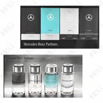 159-821 Mercedes Benz 賓士 男性小香禮盒四入組(賓士經典7ml、輕晨曙光7ml、銀色賓士7ml、極致經典7ml)