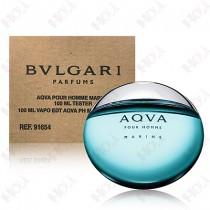 198-363【TESTER包裝】Bvlgari Aqva Marine 寶格麗 活力海洋能量男性淡香水 100ml ~環保式外盒