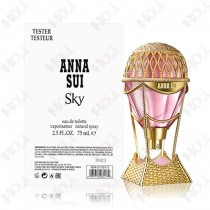 306-1824【TESTER包裝】Anna Sui SKY 安娜蘇 綺幻飛行女性淡香水 75ml~環保式外盒、有瓶蓋