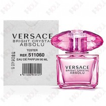 337-155【TESTER包裝】Versace Bright Crystal Absolu 凡賽斯 絕對香戀水晶女性淡香精 90ml~環保式外盒、有蓋子