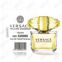 337-353【TESTER包裝】Versace Yellow Diamond 凡賽斯 香愛黃鑽女性淡香水90ml ~環保式外盒、有蓋子