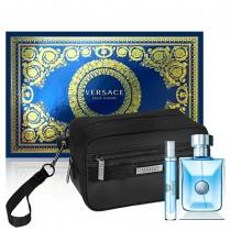 337-469 Versace Pour Homme 凡賽斯 經典男性淡香水禮盒 (淡香水100ml+隨行香水10ml+黑色盥洗包)