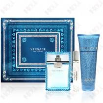 337-629 Versace Man Eau Fraiche 凡賽斯 雲淡風輕男性淡香水禮盒 (淡香水100ml+淡香水10ml+沐浴精150ml)