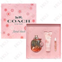 346-580 Coach Floral Blush 嫣紅芙洛麗女性淡香精禮盒(淡香精90ml+身體乳100ml+隨身香水7.5ml)