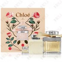 361-626【送~同品牌紙袋】Chloe 同名女性淡香精禮盒 (淡香精75ml+身體乳100ml+小香5ml)