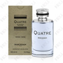 364-43 【TESTER包裝】BOUCHERON Quatre For Men 伯瓊經典環戒男性淡香水100ml - 環保式外盒、有瓶蓋