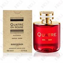 364-74 【TESTER包裝】BOUCHERON Quatre En Rouge 伯瓊環戒豔紅女性淡香精100ml - 環保式外盒、有瓶蓋