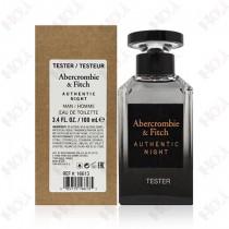 397-317【TESTER包裝】Abercrombie & Fitch Authentic Night Man 真我夜色男性淡香水100ml ~環保式外盒、有蓋子