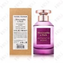 397-324【TESTER包裝】Abercrombie & Fitch Authentic Night Woman 真我夜色女性淡香精100ml ~環保式外盒、有蓋子